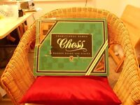 Chess traditional wood board and pieces v.g.c.