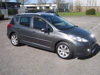 2009 Peugeot 207 SW 1.5 DCI Sport.New MOT.FSH.£30 per year road tax.P/X welcome.
