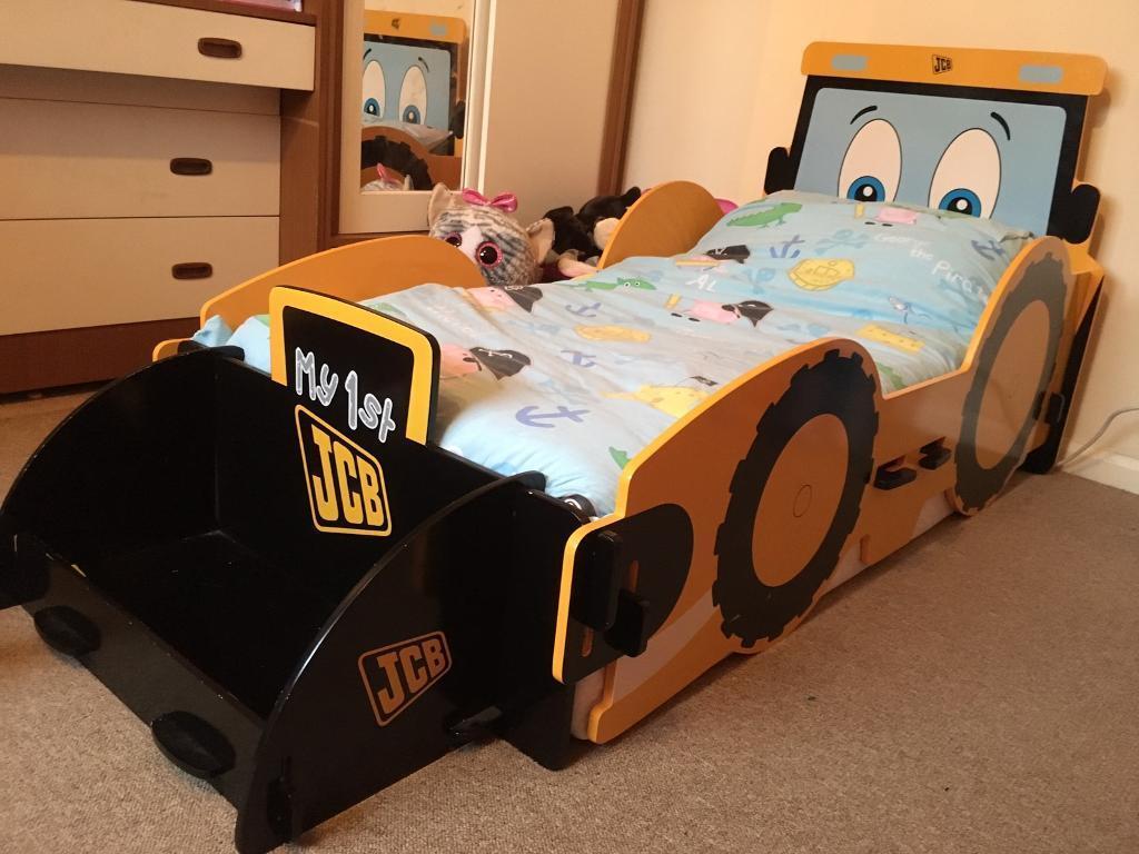 JCB toddler digger bed