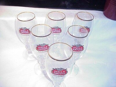 Stella Artois Chalice Set Of 6 Six Beer Glasses     40cl