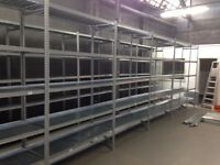 40 BAYS OF GALVENISED SUPERSHELF INDUSTRIAL SHELVING ( PALLET RACKING , STORAGE)