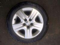 vauxhall zafira spare wheel
