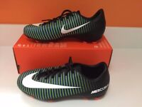 Brand new - Nike Mercurial Victory VI FG football boots Black/White/Green - Sizes 3 / 4 / 5 / 5.5 UK
