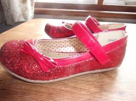 brand new red sparkly party shoes size 12