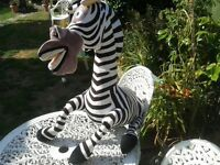 HUGE MARTY THE ZEBRA FREESTANDING SOFT TOY - OFFICIAL MADAGASCAR LARGE TOY - COLLECTABLE
