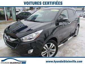 2015 Hyundai Tucson Limited A/C, NAVIGATION, CUIR BRUN, AWD, TOI