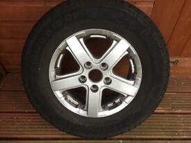 Motorhome spare wheel
