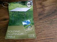 Brand new aluminum camping table