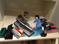 Kitchen items, stationery, organising aids