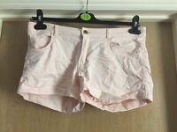 Baby pink women's shorts