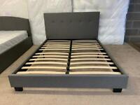 💤💤new double grey fabric bed frame