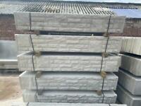 6X1 Concrete Reinforced Fencing Base Panels / Gravel Boards - Rockface