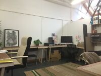 Desk spaces available in light, airy, beautiful and creative studio in DALSTON | Deskspace