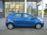 57 reg 2007 toyota yaris 1.3 sr 5 door hatchback, met blue 2 owner, 12 month mot, 82k f/s/h, hpi cl