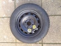 Ford fiesta mk7 mk8 2008 to 2017 spare wheel space saver with Goodyear tyre