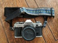Canon AE1 35mm SLR with 4 lenses & filters