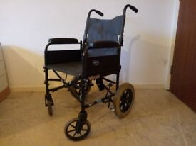 """Invacare Lightweight Folding Transit Wheelchair 17"""" Seat Delivery Available in need of a footrest"""