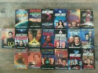Set of 19 Star Trek The Next Generation Hard Back Novels