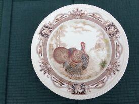 Johnson Bros Barnyard King Turkey 10.5 inch Plate