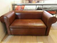 Small children's leather sofa