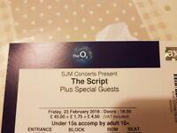 2 x The Script tickets 23rd Feb 18