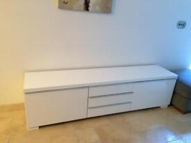 Ikea white gloss Tv cabinet