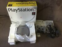 Boxed Sony Playstation 1 Console SCPH-5552 with Games