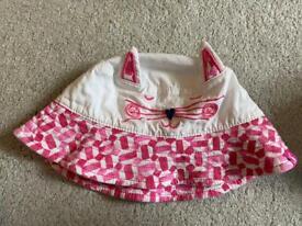 Joules girls sun hat 0-6 months
