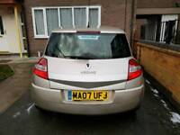 Renault megane in gold 1 year mot £30 tax a year clean in and out quick sale