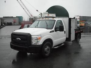 2011 Ford F-350 Regular Cab SD XL Dually  9 Foot Flat Deck 2WD
