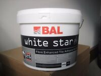 Bal white star plus wall tile adhesive, white 10 litres unopened. Bargain.