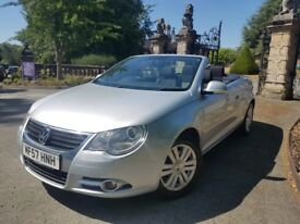 CONVERTIBLE *PANORAMIC SUNROOF VW EOS FOR SALE, 1.6 PETROL, 6SPEED MAUNAL,92.5K MILES,PRIVATE SELLER