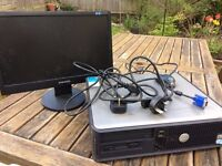 Dell desktop PC and Samsung monitor - Spares or Repair - £20 the lot