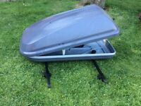 Roof Box for car including Bars (Halfords)