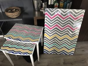 Nesting tables and painting