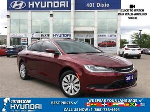 2015 Chrysler 200 LX|1 OWNER|LOW KMS!!|PUSH START| BLUETOOTH|