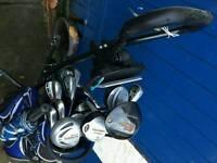 Callaway golf bag slazenger golf trolley and full set of clubs