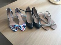 three pairs of fab new shoes size 7 all very good makes unworn.