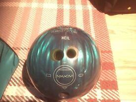 10 Pin bowling ball & bag
