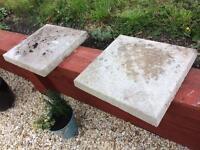 Concrete pillar caps