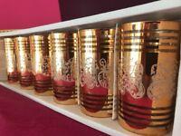 12 x BRAND NEW Tumblers ISLAMIC - Hajj & Umrah - Iftar Time - Gold Colour