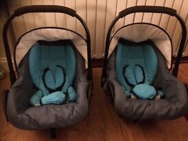 Twin Travel System pushchair and car seats