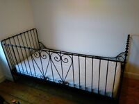 Ikea single bed metal day bed