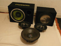 3x subs and 2x speakers
