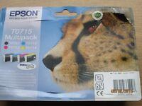 Print Cartridges for Epson Stylus D range - Epson Cheetah T0715 DURABrite 4 Colour Ultra Ink Pack