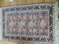 New Indian rug, high quality (Authentic rug from India) 86cm x 140cm strong pink and blue colours