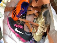 Bundle of Nike, Reebok, Adidas trainers, sandals, shoes size 8