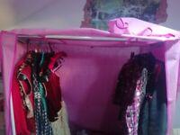 Argos pink fabric wardrobe
