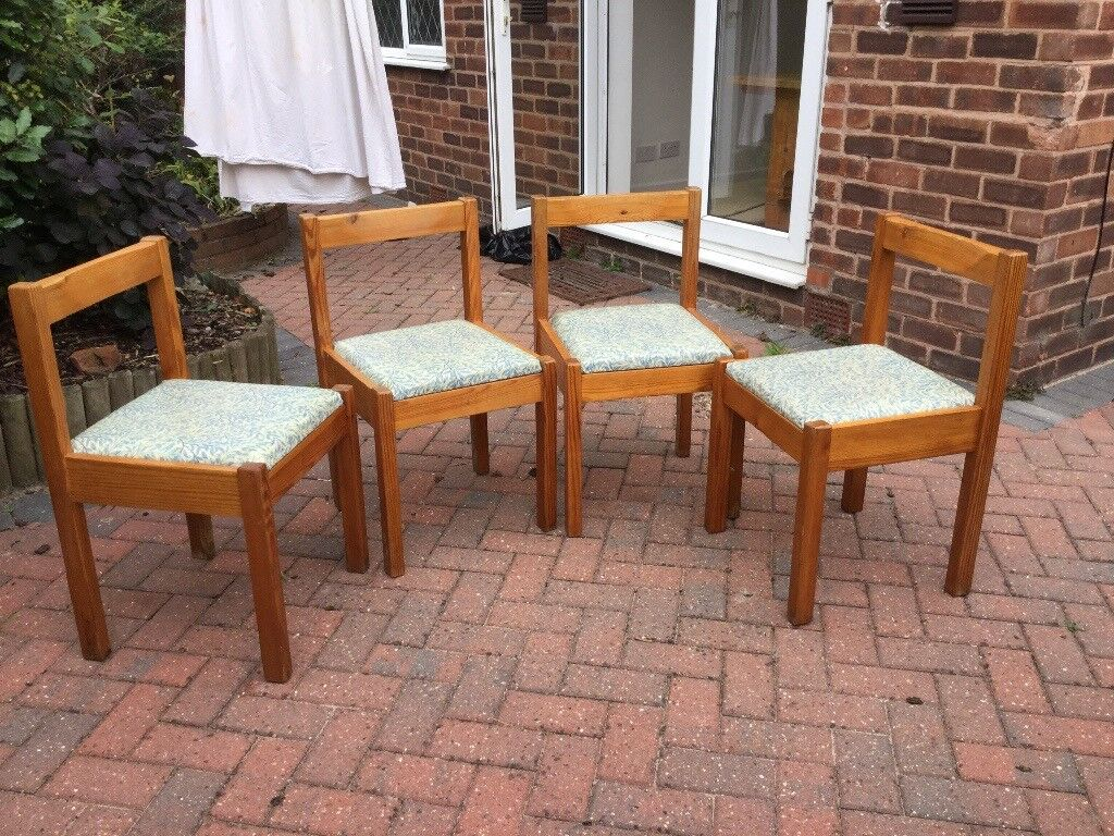 4 Pine Retro Kitchen Chairs For Sale In Ravenshead