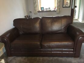Marks and Spencer large two seater leather sofas